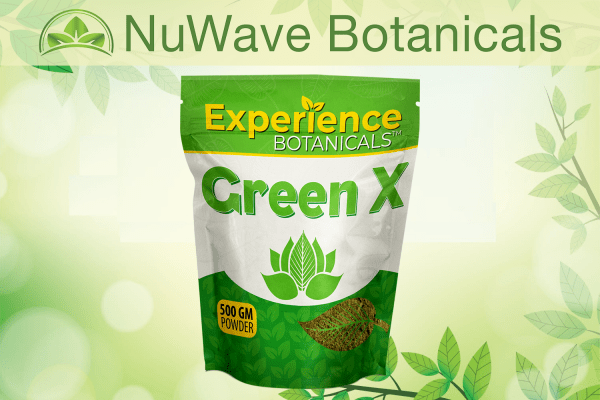 nuwave products experience botanicals green x 500gm