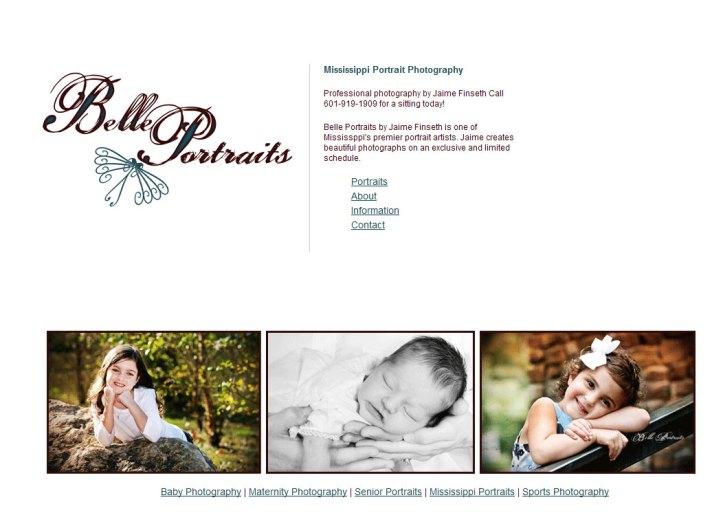 Belle Portraits - SEO, Graphic Design, Website Development