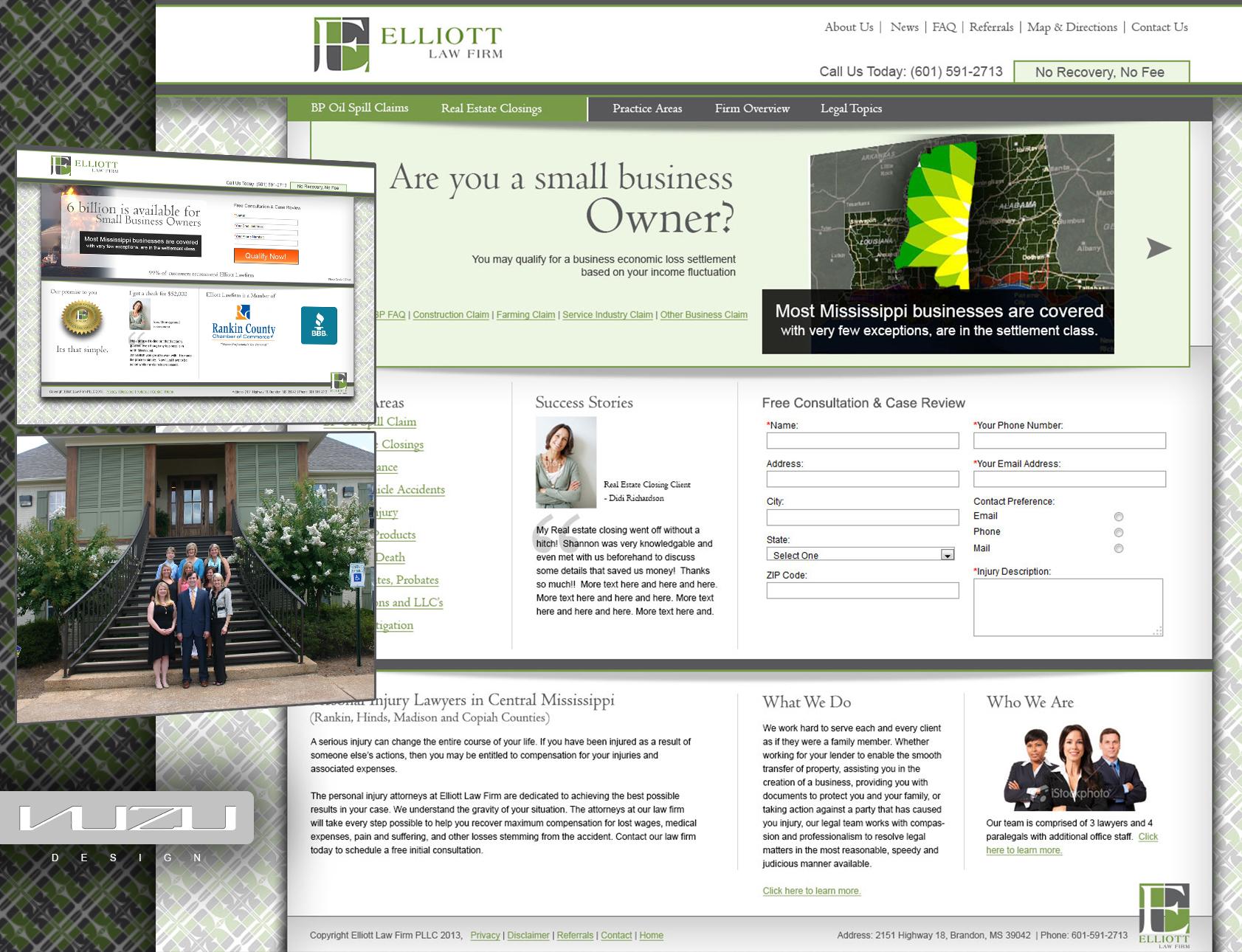 elliott-law-firm web design