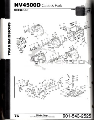 NV4500 Diagrams  NV4500 Chevy and Dodge Tranmission Parts