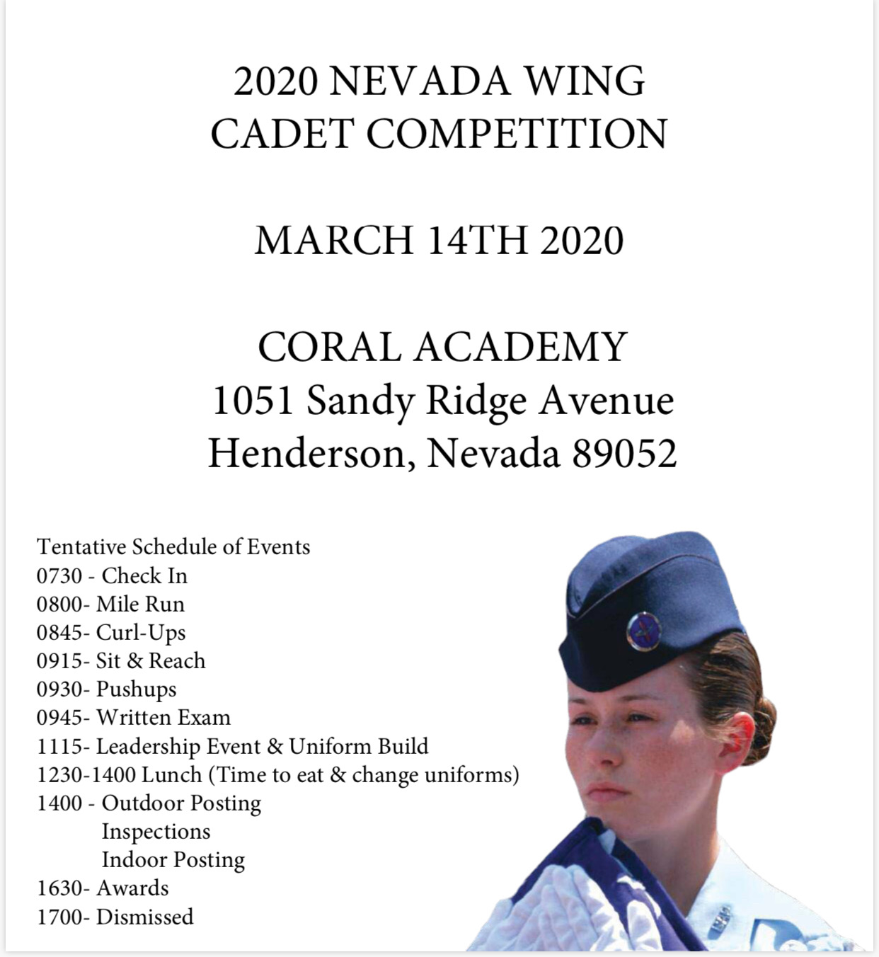 Nevada Wing Color Guard Competion