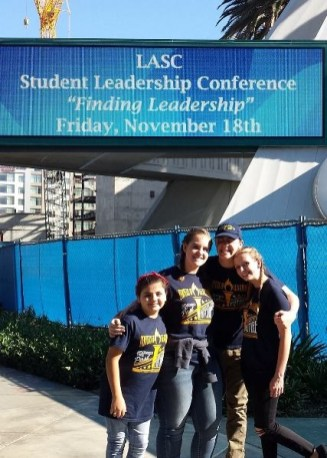 Student Council officers at LASC student leadership conference