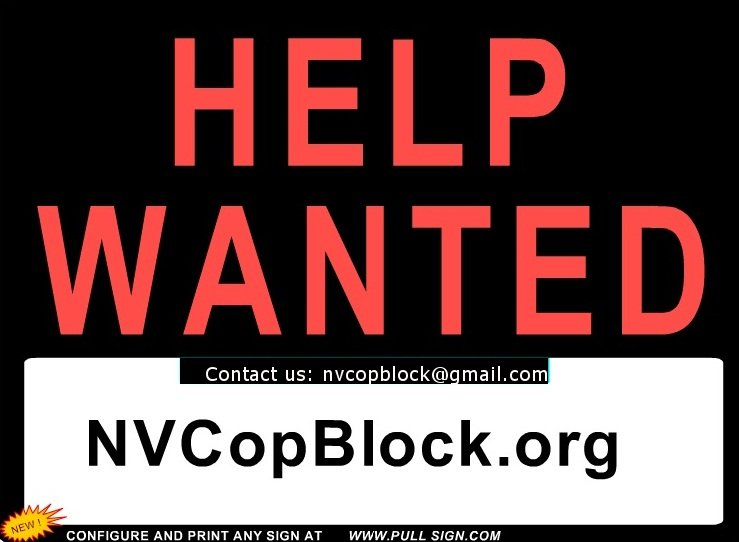 Help Wanted! Contribute To Nevada Cop Block