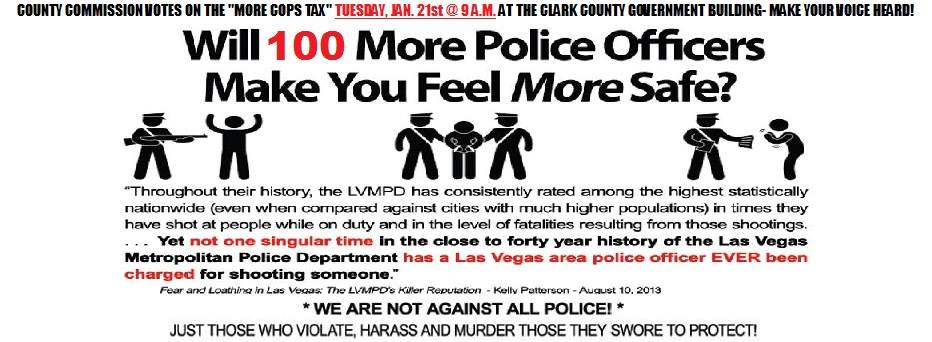 MoreCopsFlyer A Video Compilation of Las Vegas Police Brutality via Submission