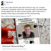 Death Threats Received After Interview of Erik Scott's Father