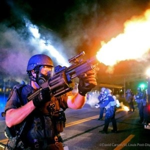 Picture Taken BEFORE the National Guard Troops Arrived in Ferguson