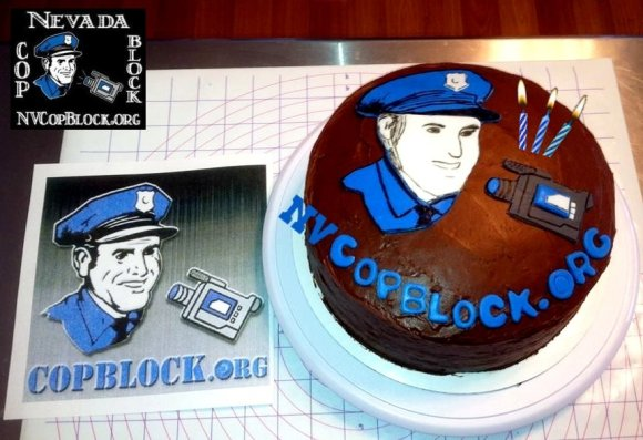 Nevada Cop Block Birthday Cake