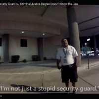 Security Guard With a Criminal Justice Degree; Knows Pretty Much Nothing About the Law
