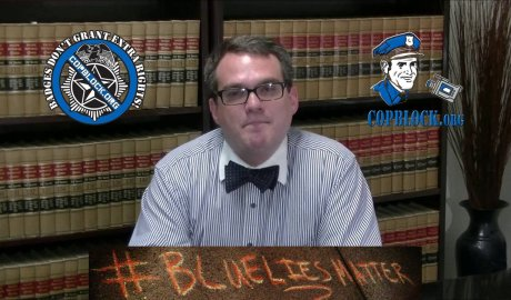Stephen Stubbs Bowtie Blue Lies Matter Truth