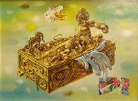 Gold Fantasy Box Aaron Bohrod