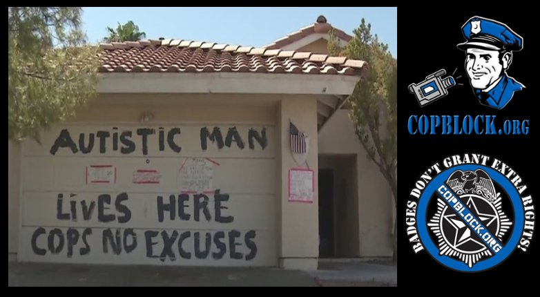 Las Vegas Mom of Autistic Man Paints Giant Message to Cops on Her Garage After Previous Assault