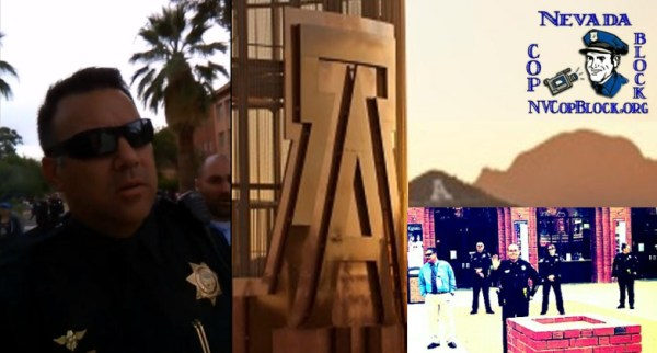 Harassment of Cop Blocker by University of Arizona Police