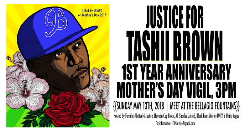 Mother's Day Vigil to be Held May 13th Commemorating One Year Since Tashii Brown's Murder