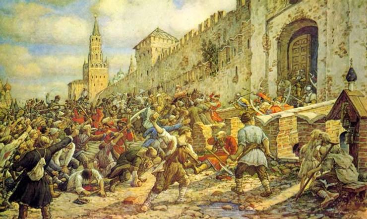 Соляной бунт в Москве, 1648. Худ.Лисснер Э. 1938 г.