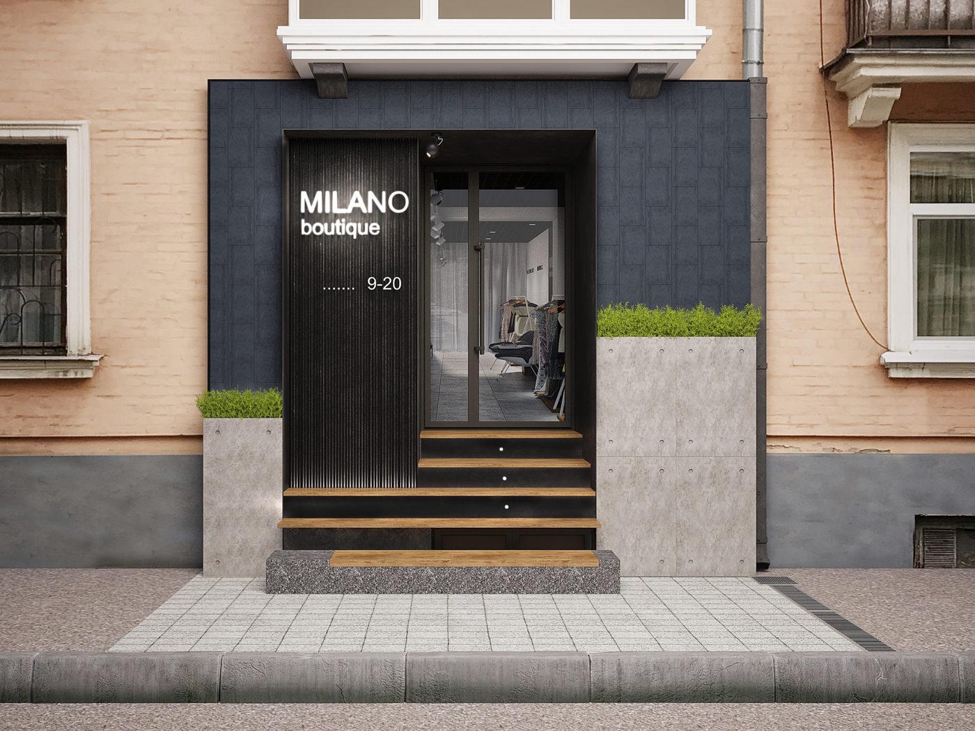 Дизайн магазина брендовой одежды «Milano boutique»