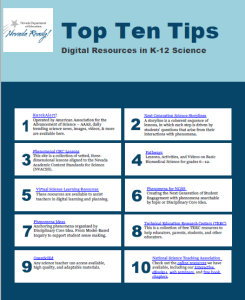 Top Ten Tips for Science