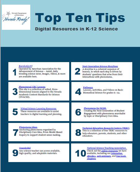 Top Ten Tips for Science