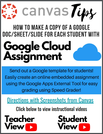 Canvas Tips: Google Cloud Assignment