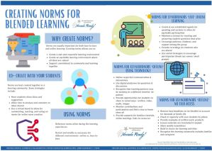 picture of elements for creating norms for blended learning