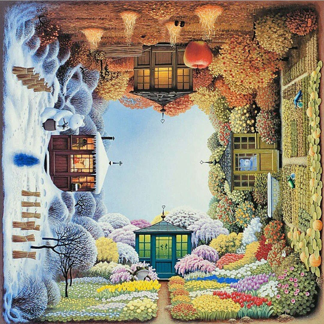 Four Seasons By Jacek Yerka