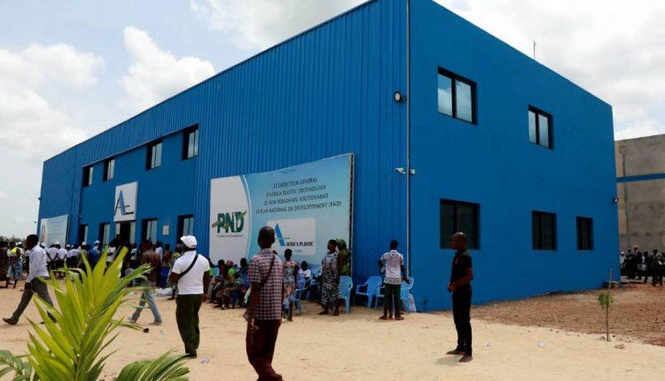 Une vue de l'usine Africa Plastic à Tsévié