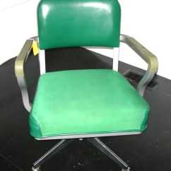 Vintage Steelcase Chair Marcel Breuer Chairs Desk Green Vinyl Cloth Upholstery