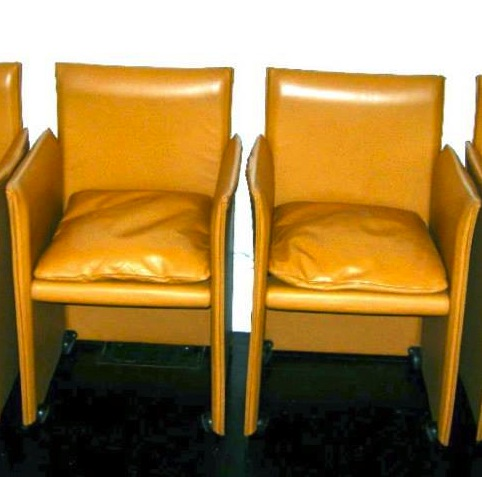 chairs on casters reclining theater vintage italian mario bellini for cassina leather