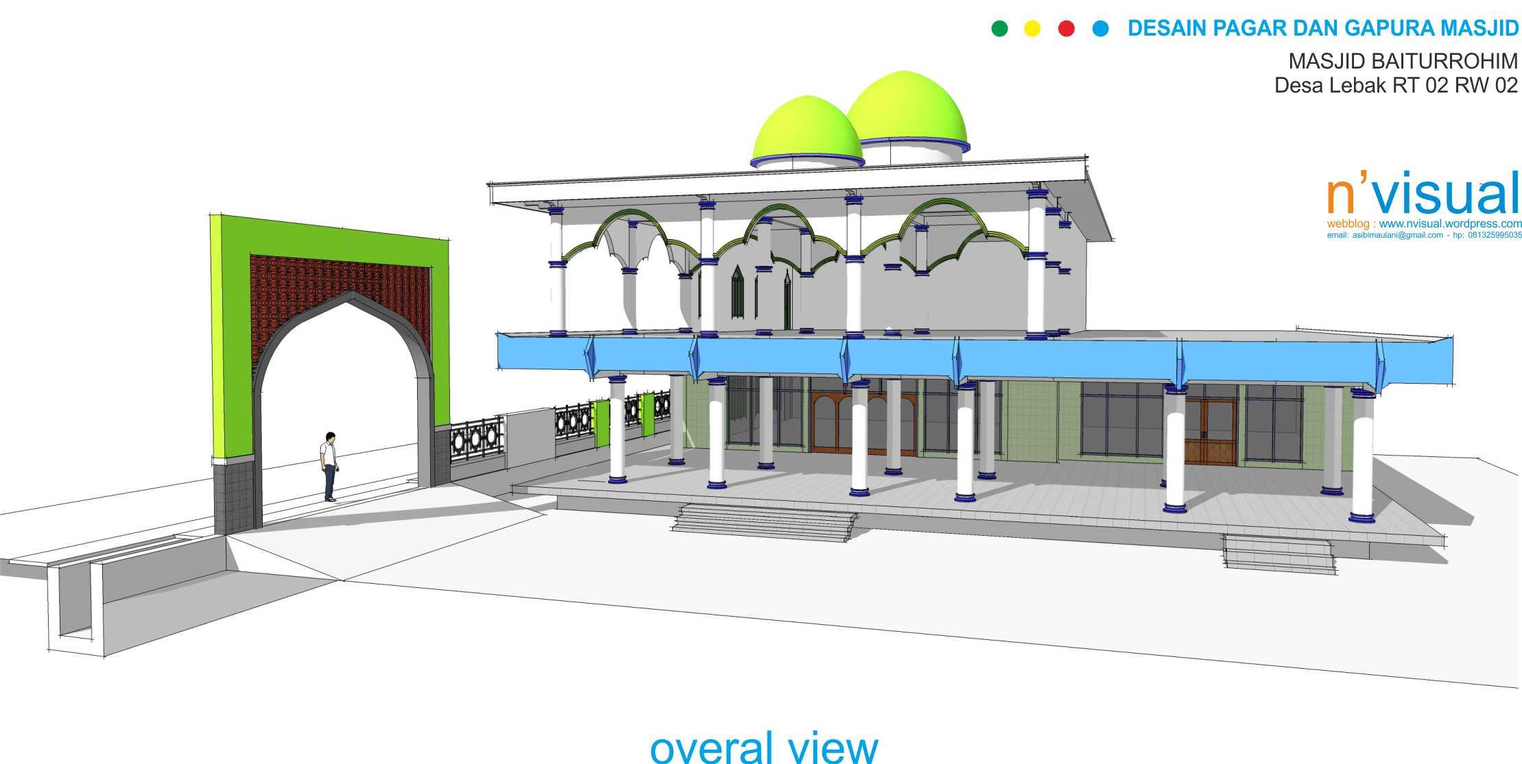 Pagar dan Gapura Masjid  Sketchs Blog