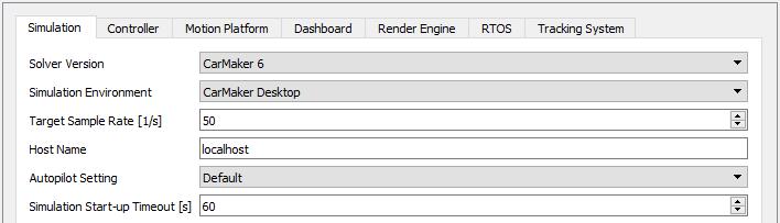 Simulation Solver Settings Screenshot