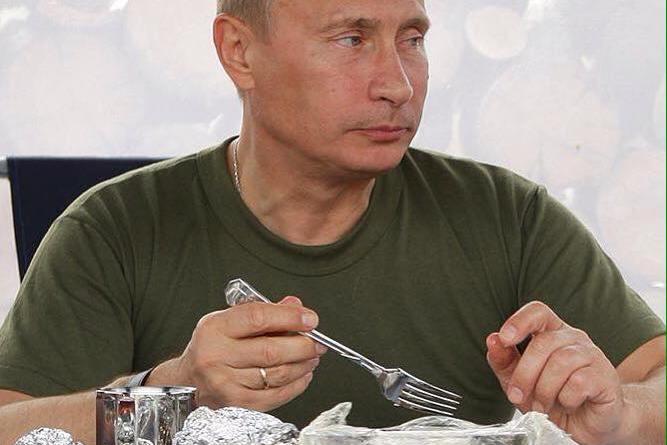 Путин отобедал в Оренбуржье