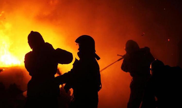 Пожар в Медногорске