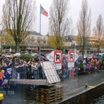 Op de kade in Remich tijdens de Sinterklaas intocht in Remich 2016