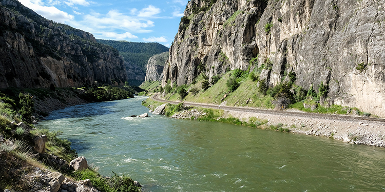 The Wind River through the Wind River Canyon.