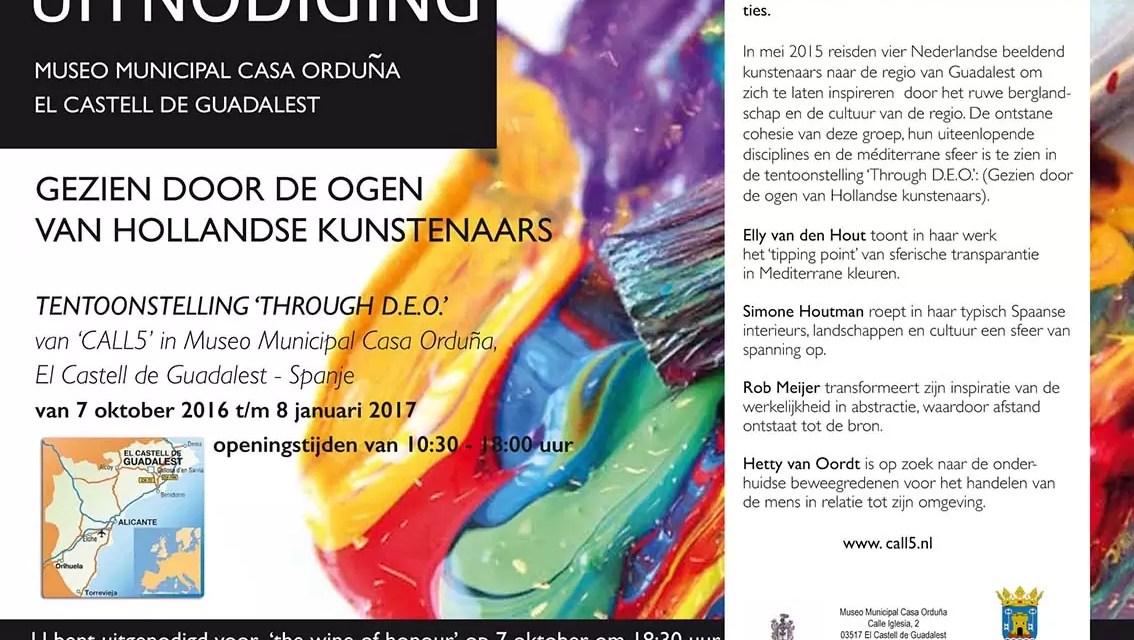 "Tentoonstelling ""through D.E.O."" 7 okt – 8 jan 2017"