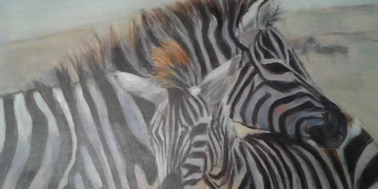 Een penseelstreek: jonge dieren