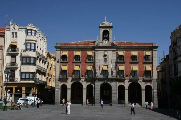 Plaza mayor in Zamora