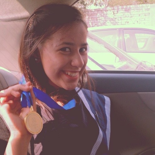 Biggest achievement when i got Gold Medal in Olevels for scoring straight As