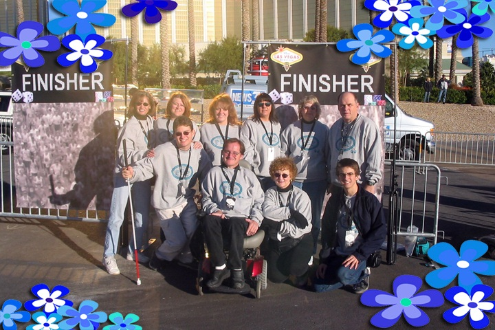 PEP staff helping out at the Las Vegas Marathon