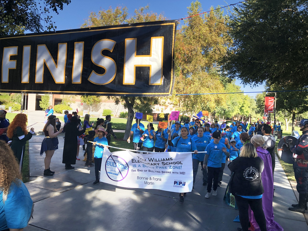 Tom Williams Elementary School participating in the Run Walk Roll event