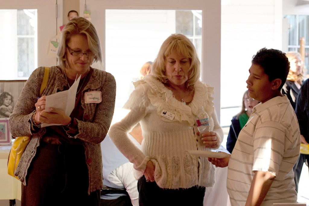 Terri with others at a PEP event