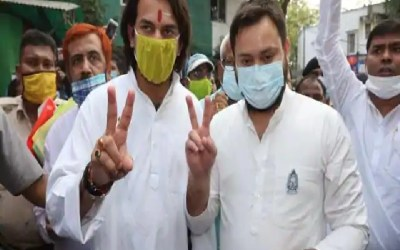 Tejashwi Yadav and Tej Pratap Yadav Biggest fight in Raghopur assembly constituency