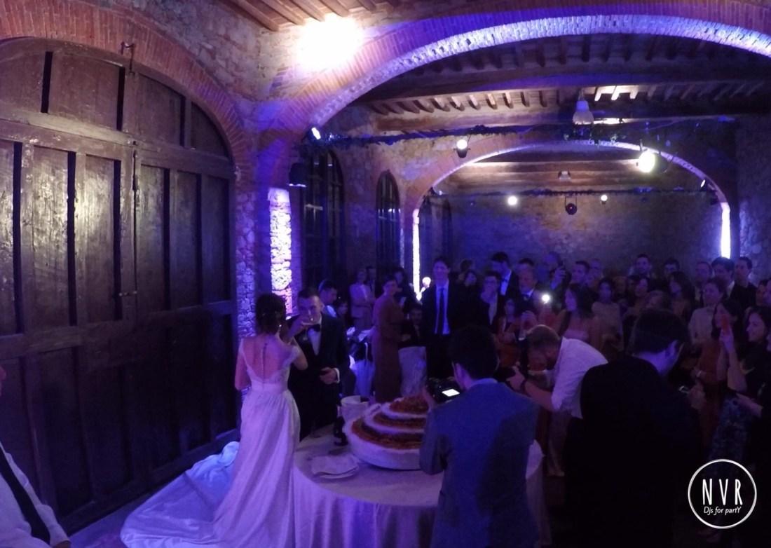 Cake Cutting - Wedding in Tuscany
