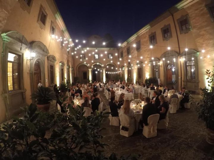 Wedding Architectural lights in Tuscany