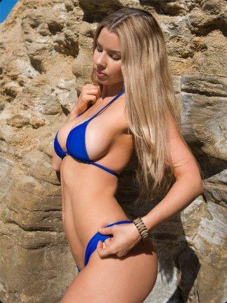 ocean blue cheeky bikini