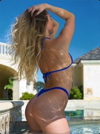 ocean blue thong bikini