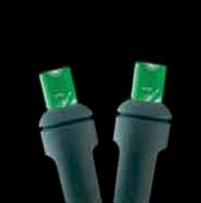 5mm 100L Full Wave LED Green Holiday Lights