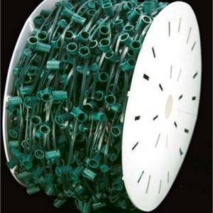 C7 Socket and Wire 1000 ft 12 inch spacing GREEN