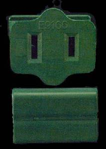 Female Slide on Zip Plug GREEN