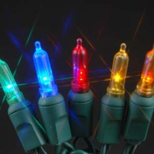 T5 50 count LED Christmas Lights MULTI COLOR