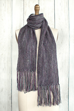 Manos Fino Mini Skeins Fringed Violet Scarf